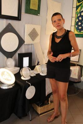 Myriam Cluzel , créatrice de boutis