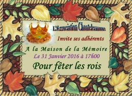 Carte d invitation aux rois